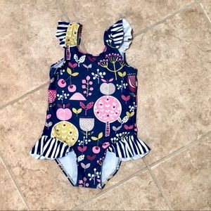 5/$25 Ruffle one piece bathing suit, size 2T/3T